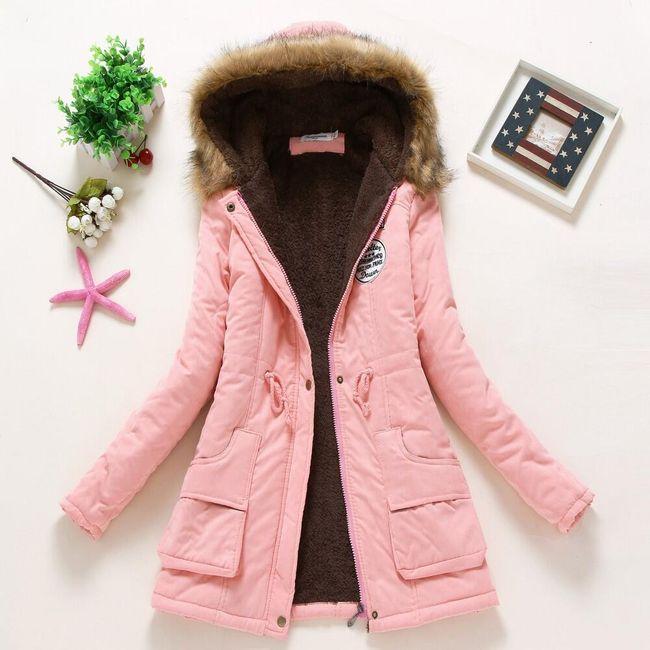 Dámská zimní bunda Jane - Růžová-velikost č. M 1