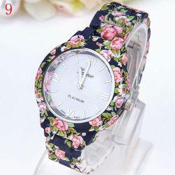 Ceas cu model floral pentru femei