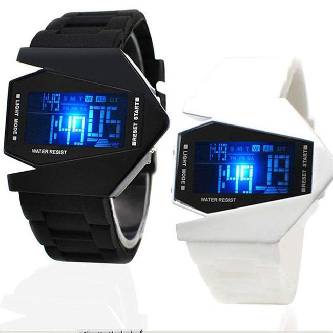 LED hodinky v originálním designu - mix barev 1