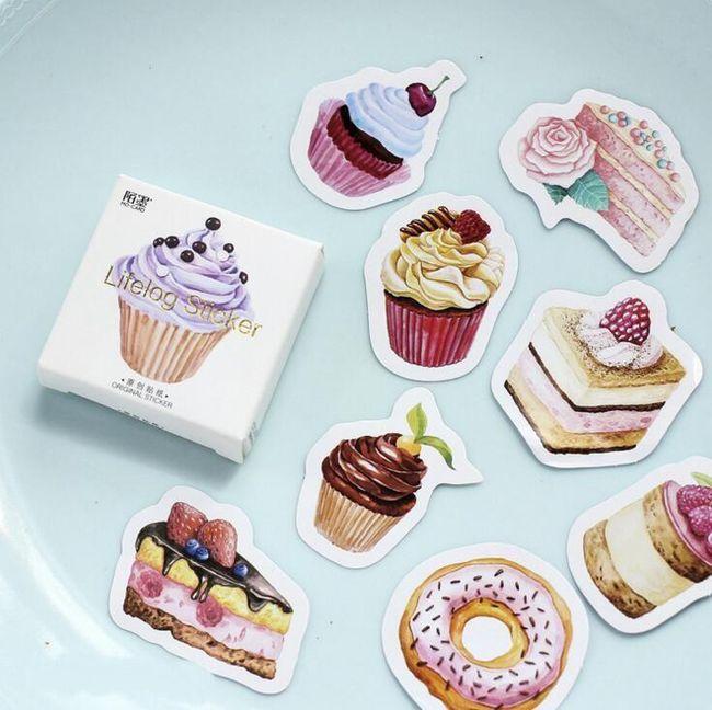 Samolepky se sladkostmi - 45 kusů 1