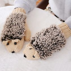Ženske rukavice u obliku ježa