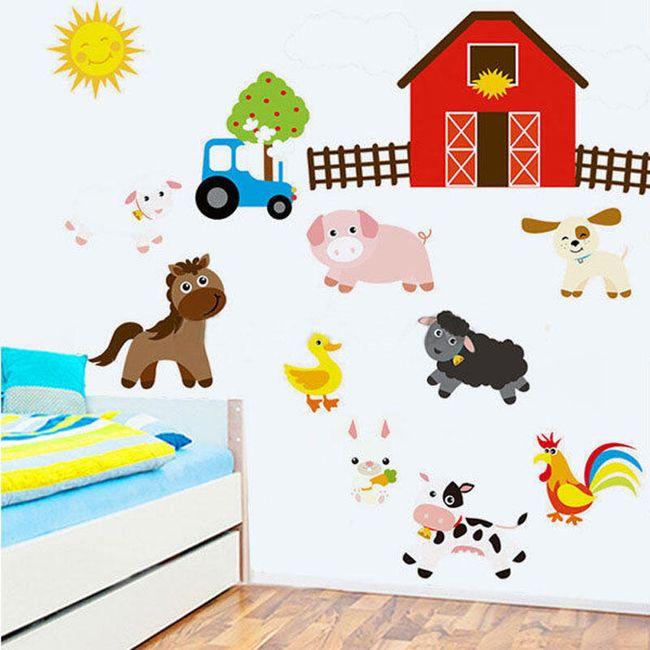 Dečija nalepnica za zid - Farma sa životinjama 1
