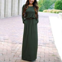 Maxi šaty s dlouhým rukávem - 5 barev