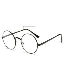 Okrągłe okulary z przezroczystymi soczewkami - 4 kolory