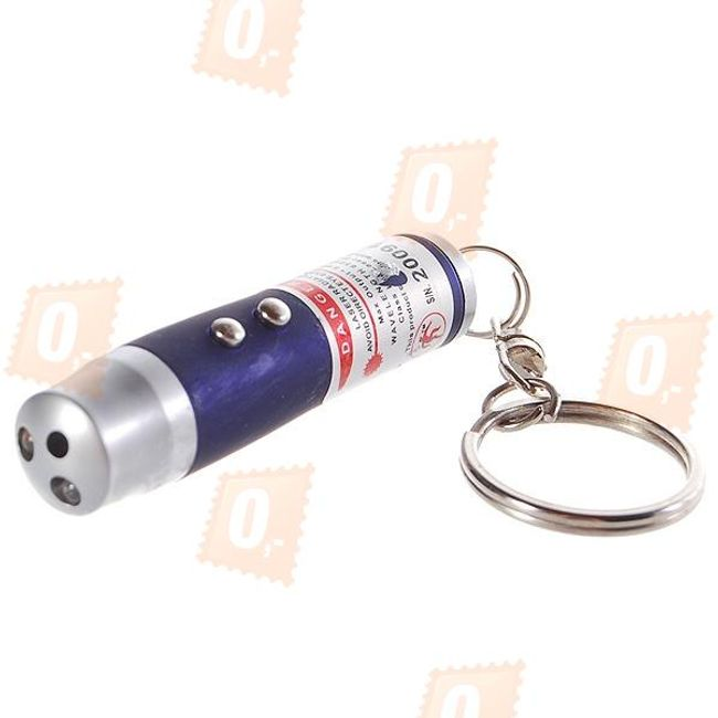 Breloczek z LED światłem, laserm i UV światłem 1