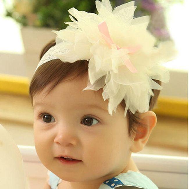 Dětská slavnostní čelenka s kytičkou 1