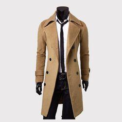 Pánský kabát s knoflíky - 3 barvy