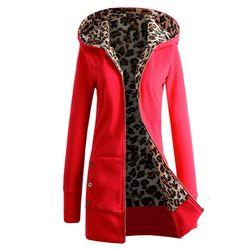 Leopar astarlı bayan sonbahar sweatshirt Paola