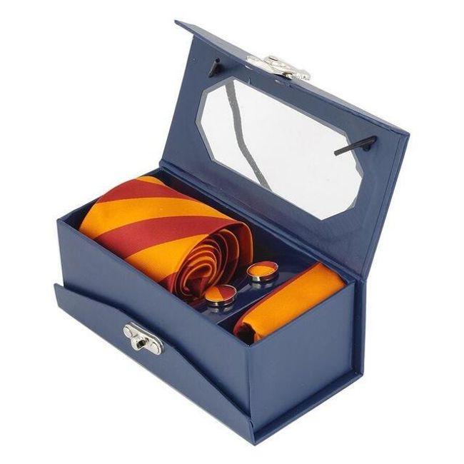 Készlet-  mandzsettagombok  nyakkendő és zsebkendők