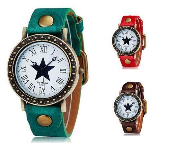 Retro zegarek z gwiazdą - 3 kolory 1