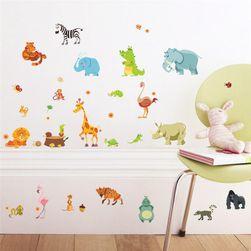 Samolepka na zeď - roztomilá zvířátka pro děti