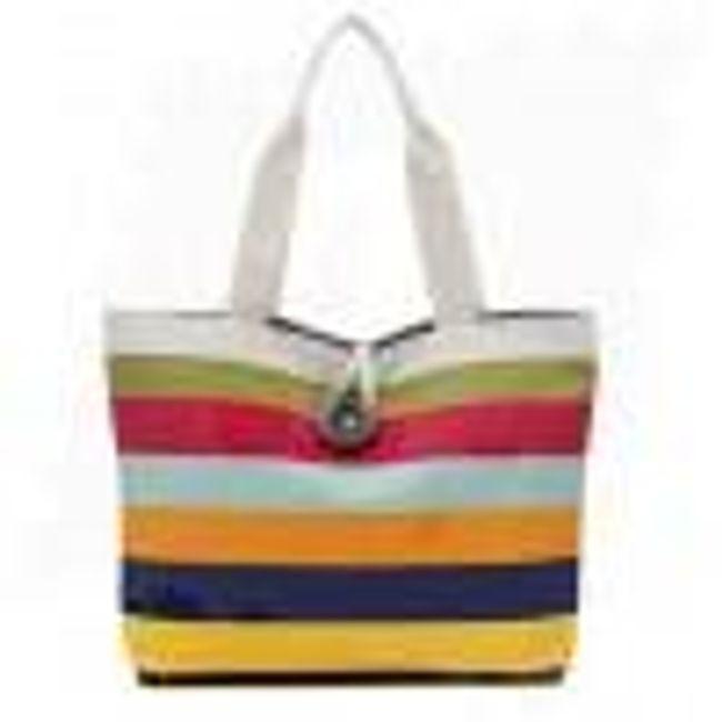 Dámská kabelka s barevnými pruhy - 3 1