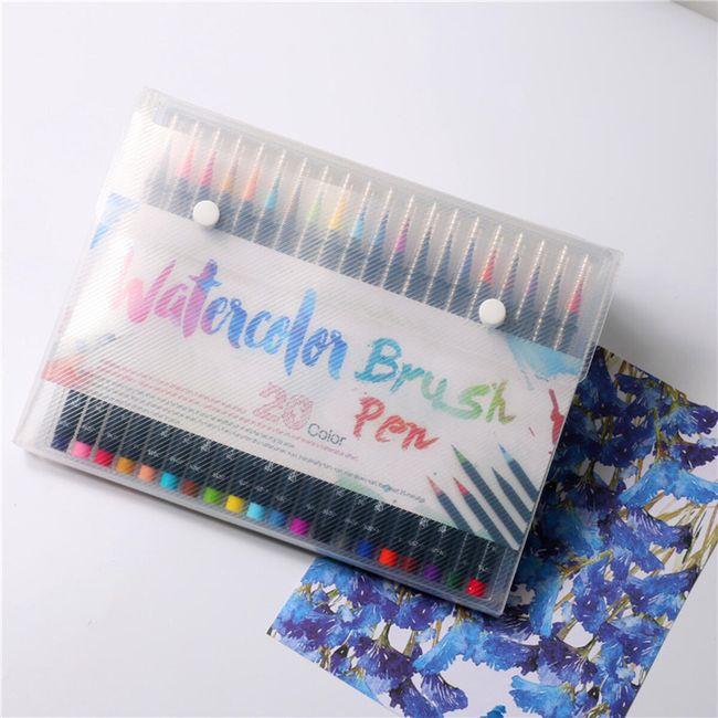 Akvarelne flomastre - set 20 kosov 1