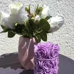 Hengeres gyertyacsokor lila