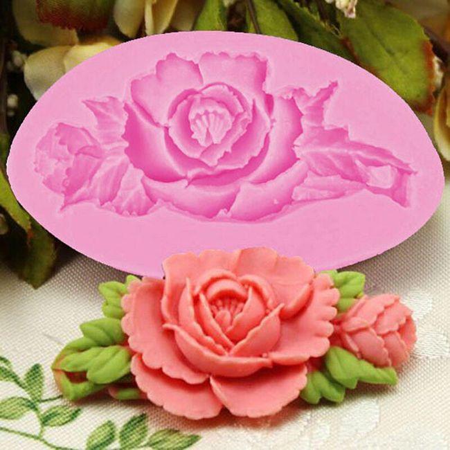 Silikonski kalup za ukrasnu ružu 1