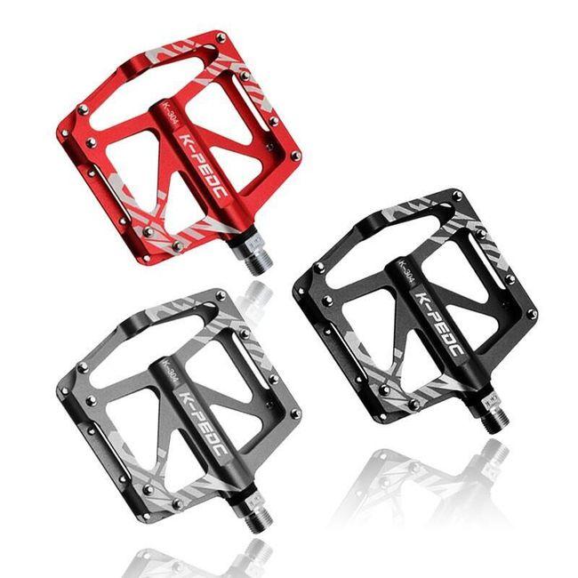 Kvalitní cyklistické pedály z hliníkové slitiny - 3 barvy 1