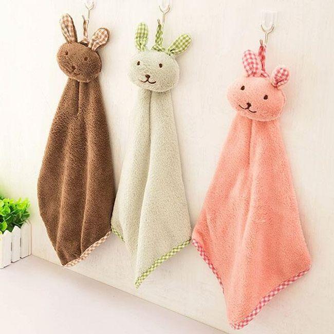 Otroška brisača v obliki zajca 1