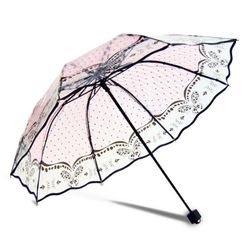 Stylový průsvitný deštník - různé motivy