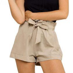 Женские летние шорты с высокой талией- 3 цвета