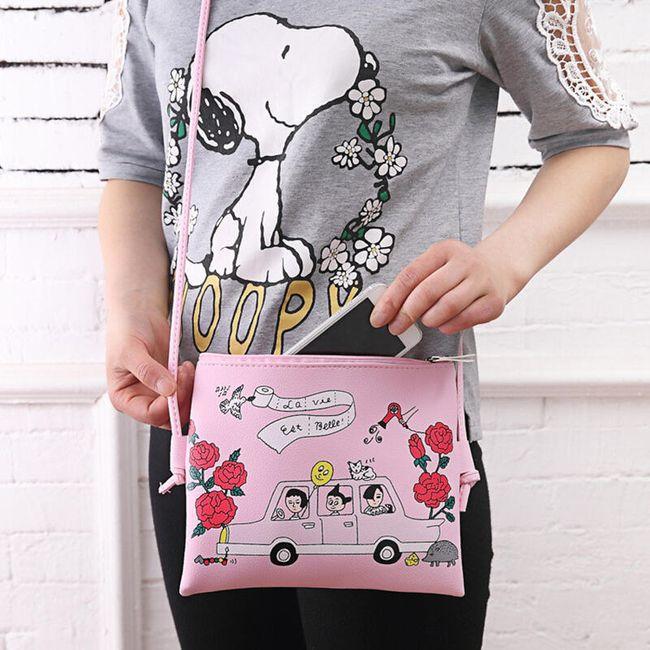 Dámská mini kabelka s roztomilým motivem 1