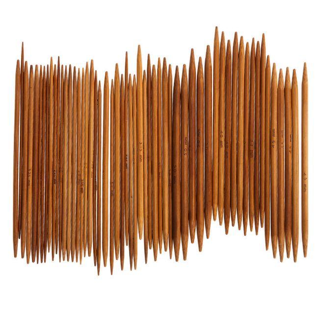 Bambusové pletací jehlice - 55 ks 1