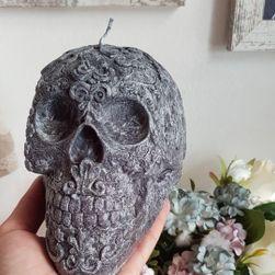 Fekete koponya gyertya