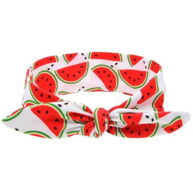 Čelenka pro miminko - motivy ovoce 1