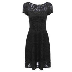 Poletna obleka s čipko Črna velikost št. 7