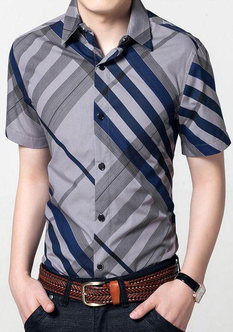 Szabálytalan csíkokkal rendelkező ingek