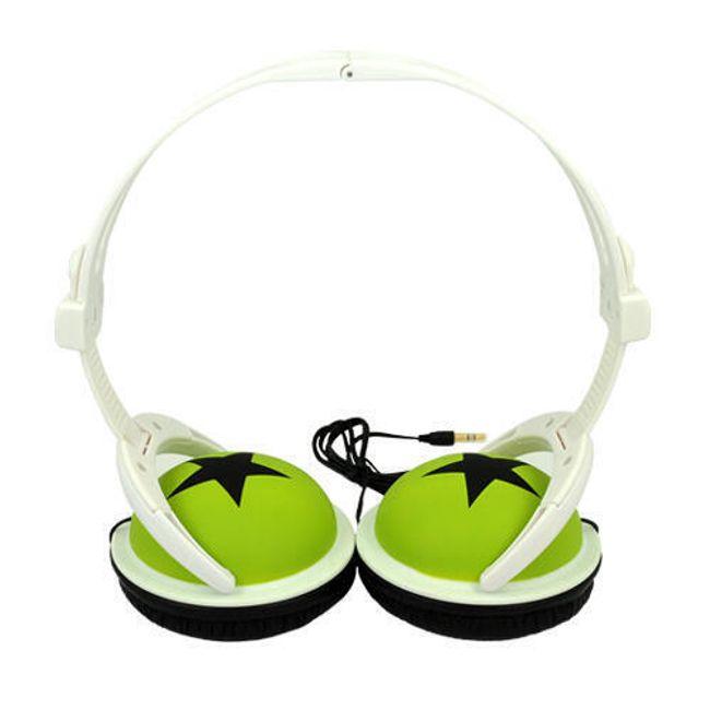 Stereo sluchátka s potiskem 3,5mm - zelená 1