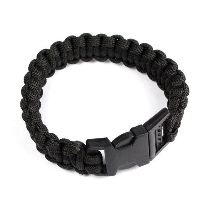 Черный браслет для кемпинга 1