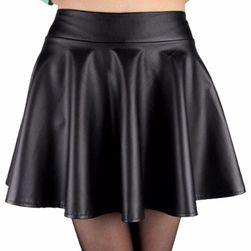 Spódnica damska ze sztucznej skóry - 4 kolory