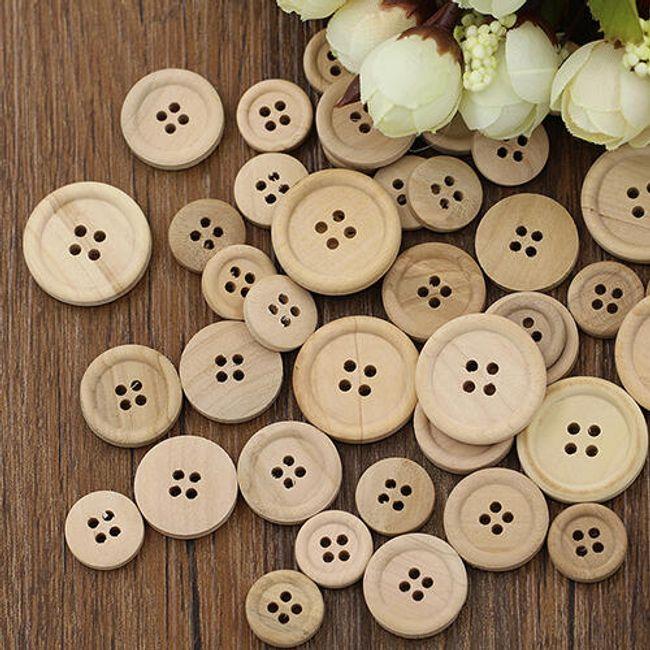 Drveni dugmići - 50 komada 1