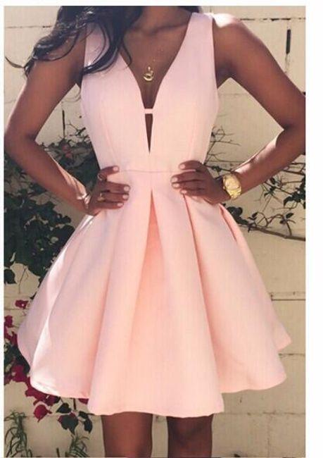 Růžové šaty s áčkovou sukní - velikost č. 5 1