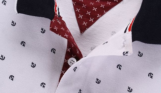 Férfi póló ing gallérral és rövid ujjú - 5 változat