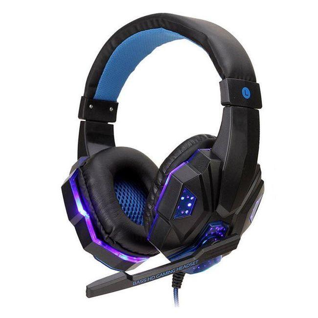 Słuchawki dla graczy z mikrofonem LED01 1