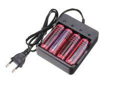 Akumulator litowo-jonowy 18650 4,2 V z uniwersalną poczwóną ładowarką