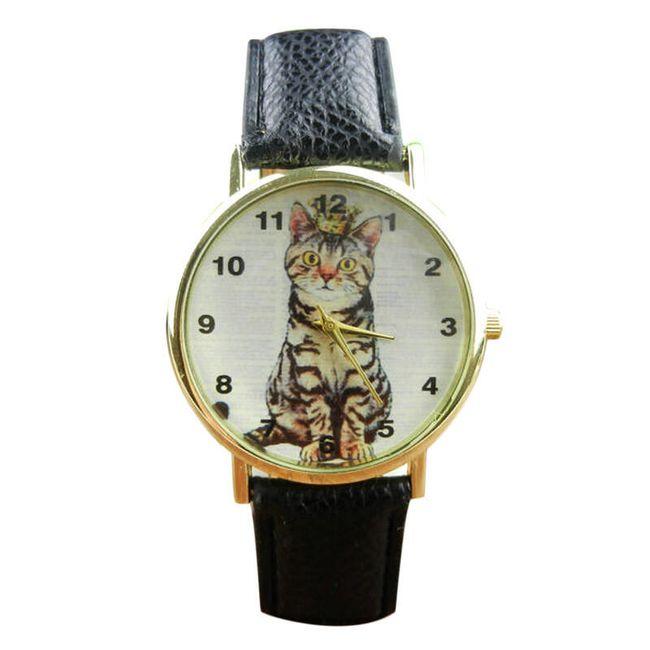 Dámské hodinky s kočkou - 4 barvy 1