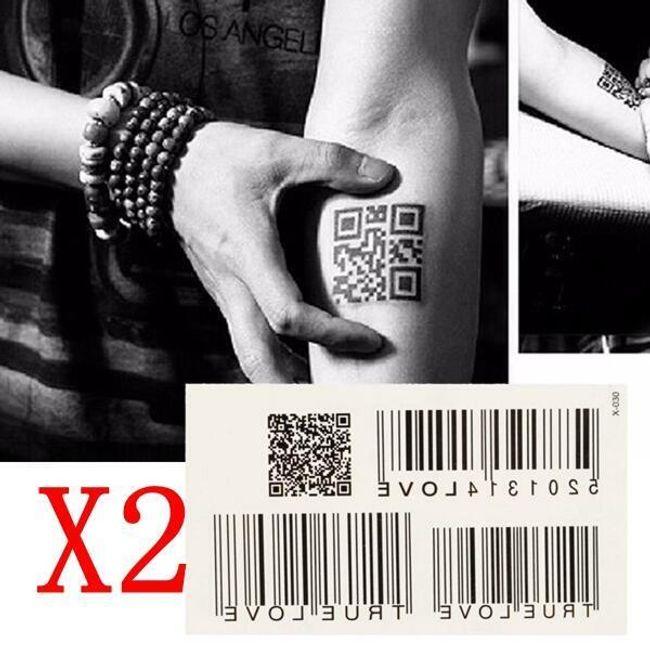 Переводная татуировка- Штрих-код (2 шт.) 1