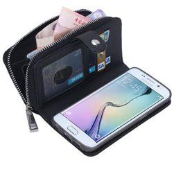 Peněženka s pouzdrem pro Samsung Galaxy S6 Edge Plus v moderních barvách