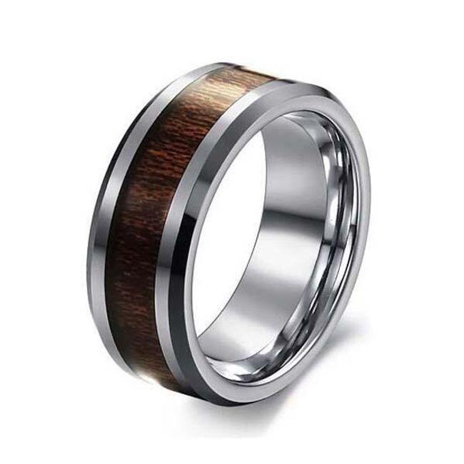 Pánský prsten s palisandrovou dekorací - 7 velikostí 1