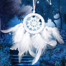 Łapacz snów w białym kolorze