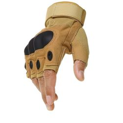 Pánské taktické rukavice s ochranou kloubů - Yellow-L