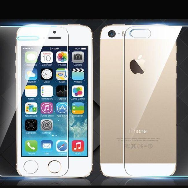 Sprednje in zadnje ultra tanko kaljeno steklo za iPhone 5 / 5S 1