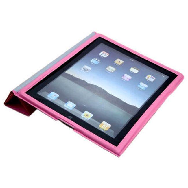 Magnetické chytré pouzdro pro iPad 2 - růžové ultratenké 1