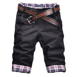 moške kratke hlače s karirastimi detajli - več barv