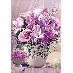 Алмазная мозаика- Розовый букет