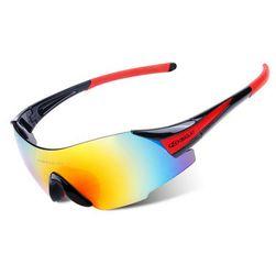 Naočare za bicikliste - crna + crvena