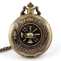 Zegarek kieszonkowy w stylu vintage dla strażaków