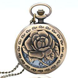 Джобен часовник с роза